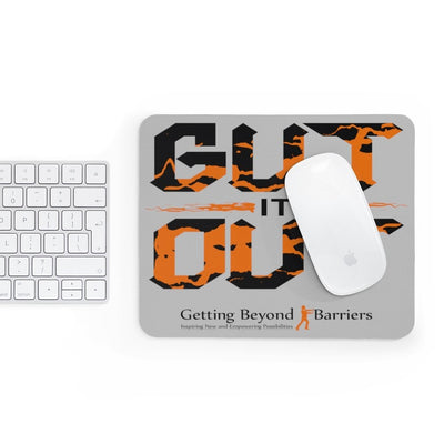 Mousepad-Gut It Out Orange and Black - GBB Inspirations
