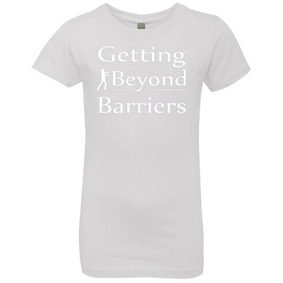 NL3710 Girls' Princess T-Shirt-Getting Beyond Barriers White - GBB Inspirations