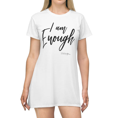 Personalized All Over Print T-Shirt Dress- I Am Enough - GBB Inspirations