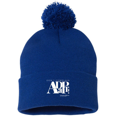 SP15 Pom Pom Knit Cap-Dont Complain Adapt White - GBB Inspirations
