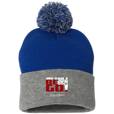 SP15 Pom Pom Knit Cap- We Cant Be Where We Wont Go White - GBB Inspirations