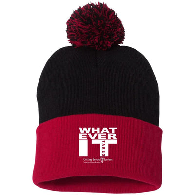 SP15 Pom Pom Knit Cap- Whatever It Takes White - GBB Inspirations