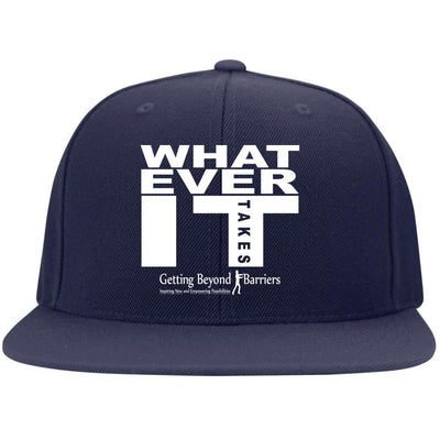 STC19 Flat Bill High-Profile Snapback Hat-Whatever It Takes - GBB Inspirations