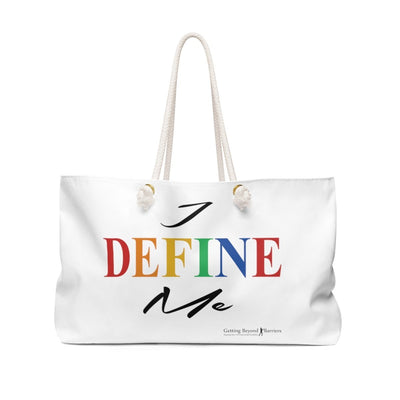 Weekender Bag-I Define Me white - GBB Inspirations