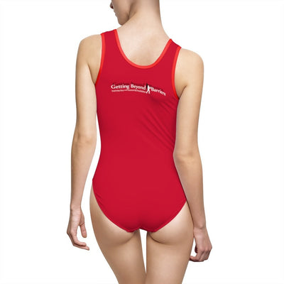 Women's Classic One-Piece Swimsuit-We Can't Be Where We Won't Go! Silver_Gray - GBB Inspirations