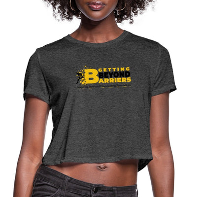 Women's Cropped T-Shirt-Getting Beyond Barriers Gold - GBB Inspirations