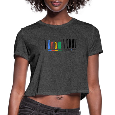Women's Cropped T-Shirt-I Know I Can! - GBB Inspirations