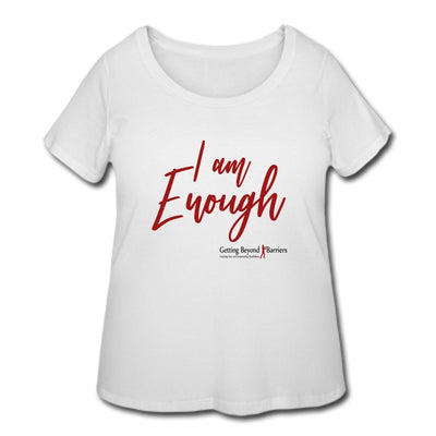 Women's Curvy T-Shirt-I Am Enough - GBB Inspirations