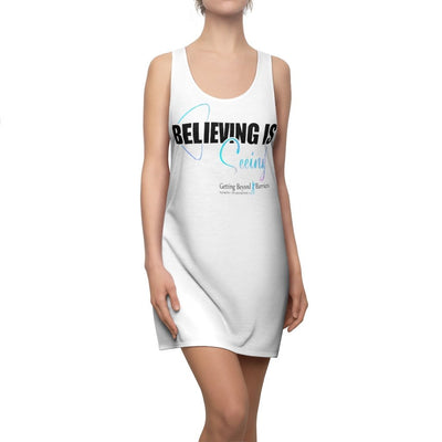 Women's Cut & Sew Racerback Dress-Believing Is Seeing! - GBB Inspirations