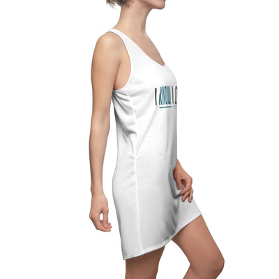 Women's Cut & Sew Racerback Dress-I Know I Can - GBB Inspirations