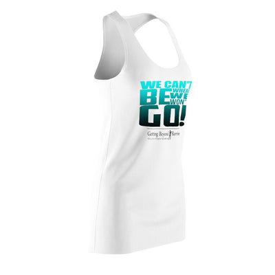 Women's Cut & Sew Racerback Dress-We Cant Be Where We Wont Go Grn - GBB Inspirations
