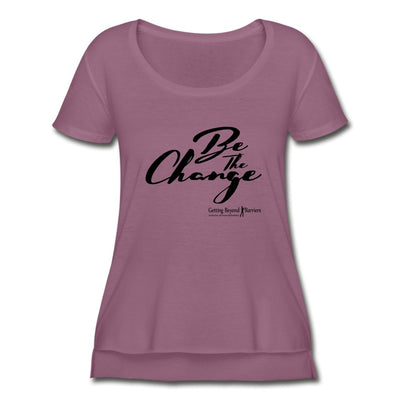 Women's Festival Scoop Neck T-Shirt-Be The Change Black - GBB Inspirations