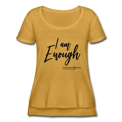 Women's Festival Scoop Neck T-Shirt-I Am Enough - GBB Inspirations