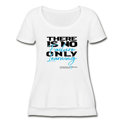 Women's Festival Scoop Neck T-Shirt-There Is No Failure Only Learning 2 - GBB Inspirations