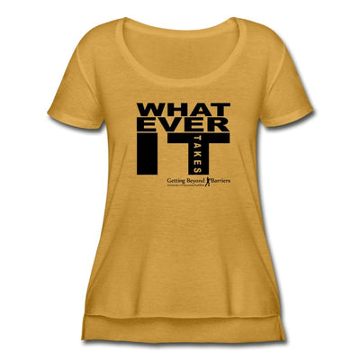 Women's Festival Scoop Neck T-Shirt-Whatever It Takes Black - GBB Inspirations