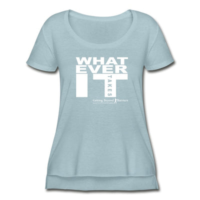 Women's Festival Scoop Neck T-Shirt-Whatever It Takes White - GBB Inspirations