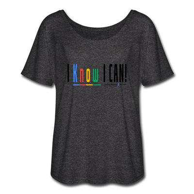Women's Flowy T-Shirt-I Know I Can - GBB Inspirations