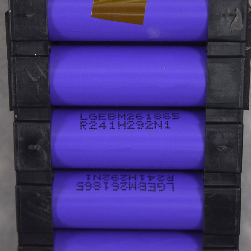 160 cells - LG M26 2600mAh 10A Lithium Ion cells in rubber packs
