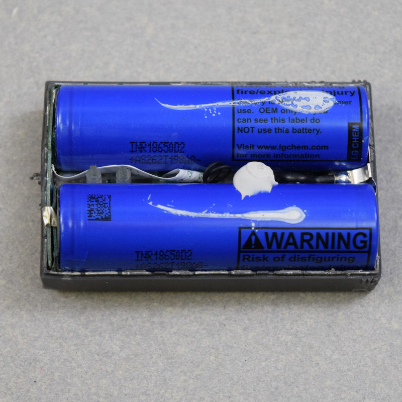 Lot of 200) Cells in 100 Ring Battery packs Mixed High Grade 18650 Cells  (Panasonic NCR18650A, LG D2)