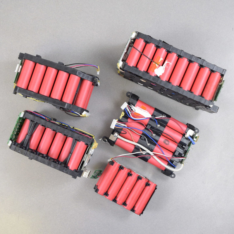Lot of 300 18650 Cells -  Assorted Red Sanyo Tool Batteries for Cell Recovery