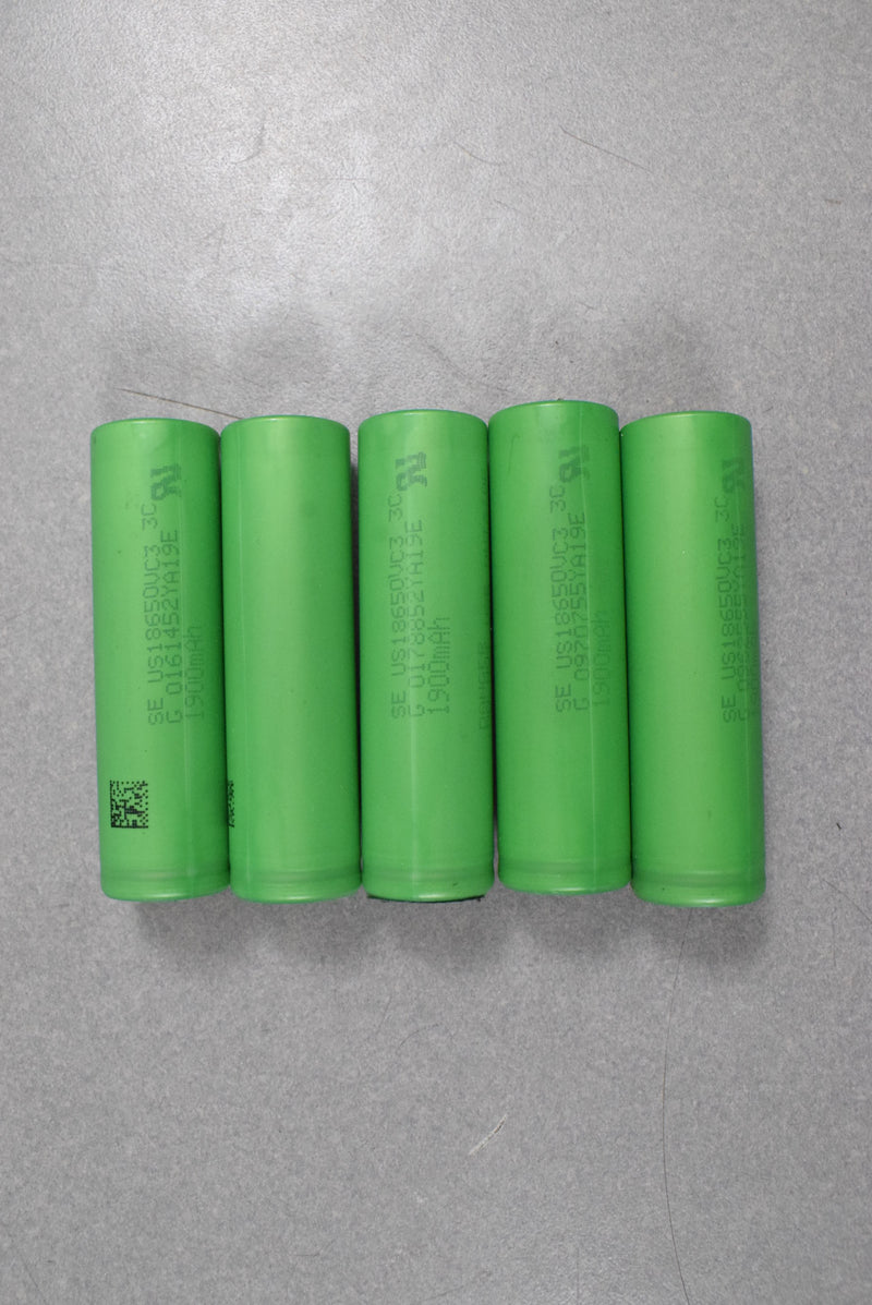 Lot of 360) Sony VC3 - 20A - 1.9Ah - 18650 cells in tool battery packs