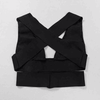 Plunge Cut Out Bandage Crop Top Bralet Bustier Black (Pre-order)