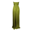 High Waist Multiway Wrap Bandeau Satin Two-Piece Set Khaki Green