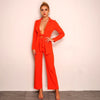 Long Sleeve Jumpsuit Two Piece Suit Set