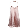 Satin Slip Choker Dress Nude Pink