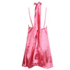 Satin Slip Choker Dress Pink