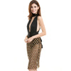 Sequin Mesh Multiway Dress Gold Black