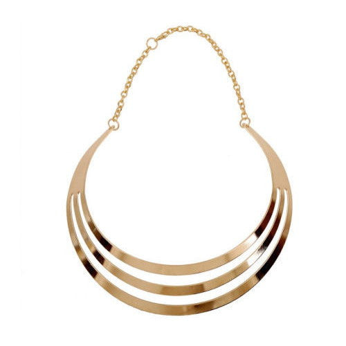 Gold Metal 3 Row Bip Choker