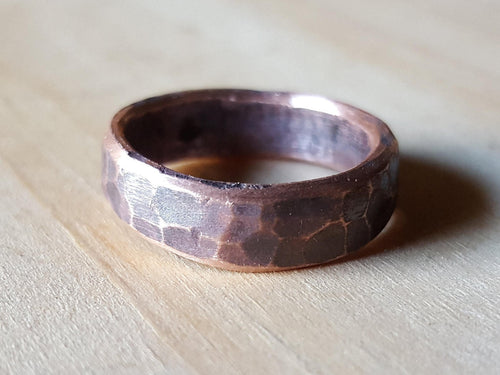 Hand Forged Copper Ring