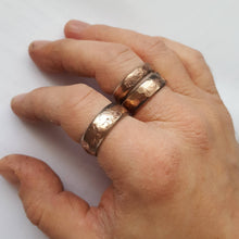 Load image into Gallery viewer, Rustic Bronze and Stainless Steel Mixed Metal Ring
