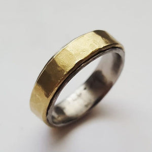 Brass and Stainless Steel Mixed Metal ring