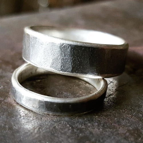 Silver and Iron ring