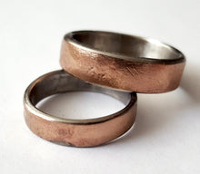 Load image into Gallery viewer, Bronze and Stainless Steel Wedding Band
