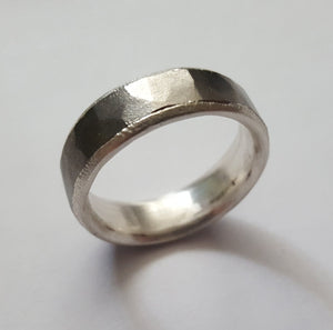 Titanium and Silver ring
