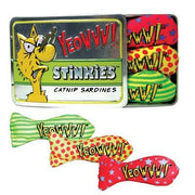 YEOWWW CATNIP STINKIES SARDINER 3ST I AS
