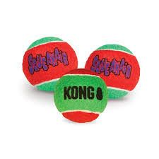 KONG Holiday SqueakAir Balls, medium, H1