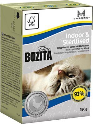 BOZITA FELINE INDOOR & STERILISED 190GRT