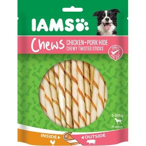 Iams twisted sticks pork 35 stk. 35 stk