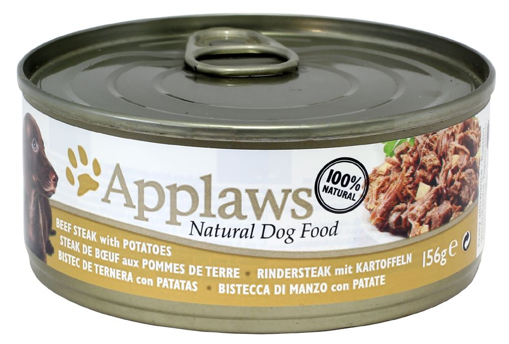Applaws hund konserv Beefsteak&Potatoes 156g
