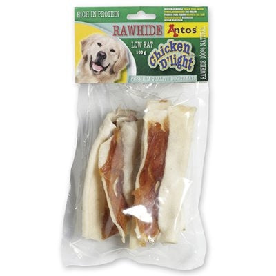 HUNDSNACKS CHICKEN DLIGHT RAWHIDE 100GR