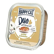 Happy Cat Duo Menu Kjøtt & Kanin 100g