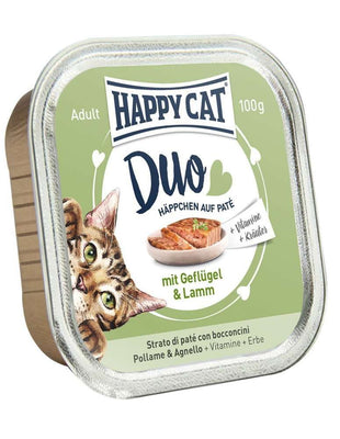 Happy Cat Duo Menu Fugl & Lam 100g