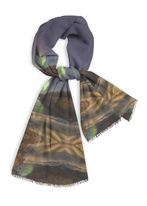Alexandra Falls Aurora - Natural Cotton Scarf