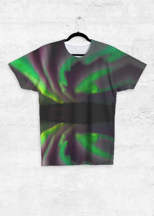 Aurora Ribbon Dance - Unisex Tee Shirt with front print