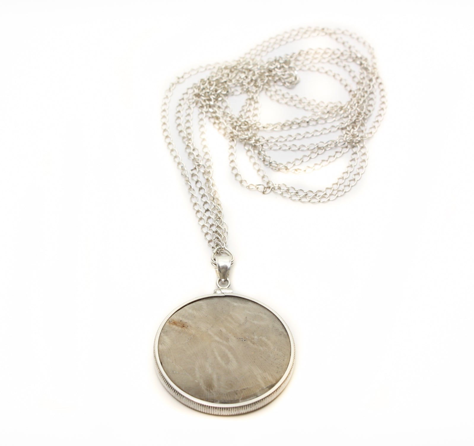 Arctic Raw - DEVONIAN FINGERPRINTS, One of a kind Reversible Ladies Necklace