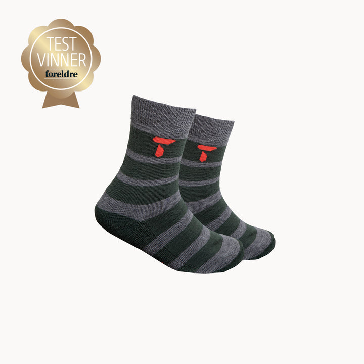 Kids Merino Crew Sock - Stripe